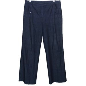 Sandro Sportswear Denim Wide Leg Trouser Pants 10